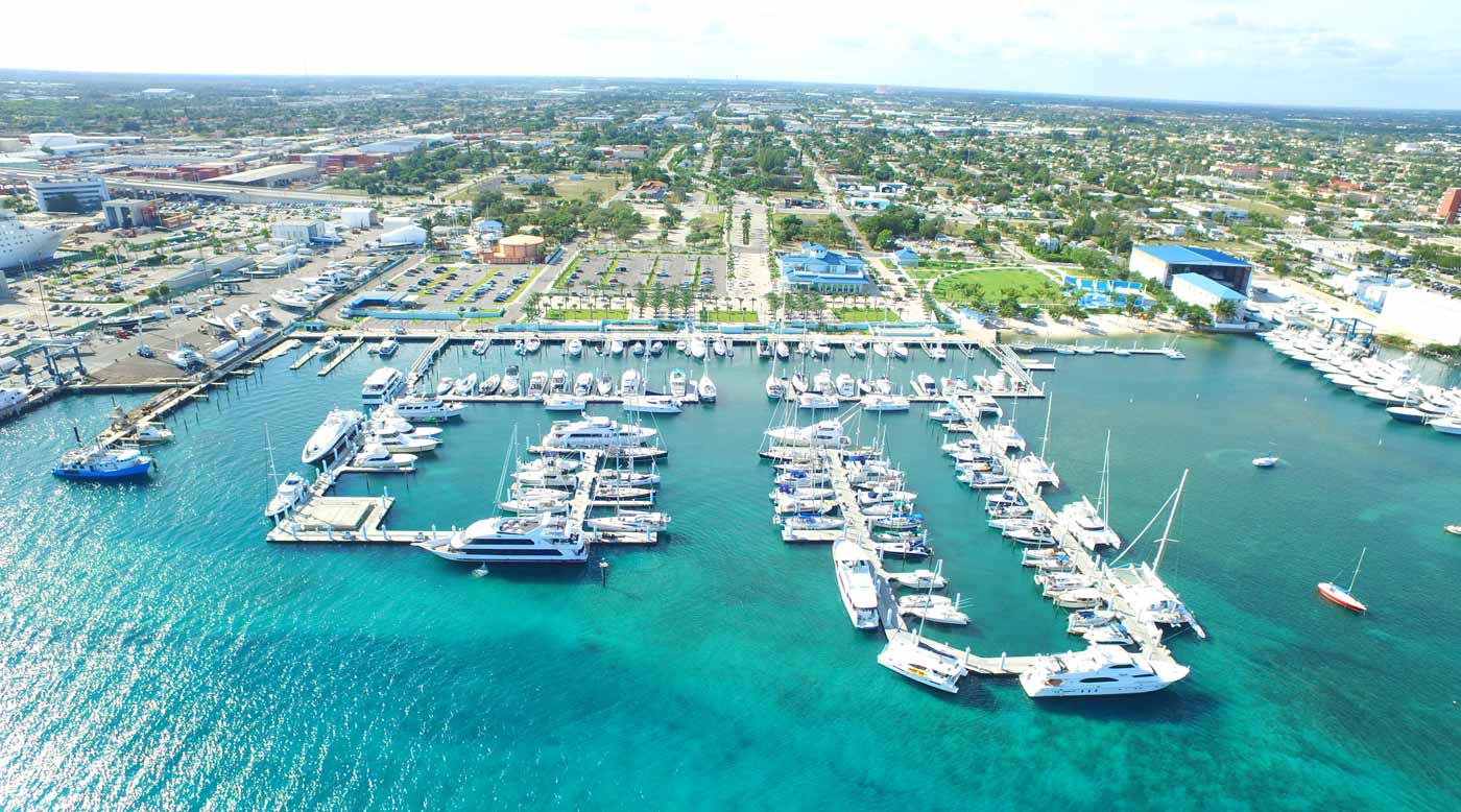 Aerial View of Riviera Beach City Marina